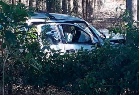Motorista perde controle da direção após 'fechada' e bate em árvore na SP-294