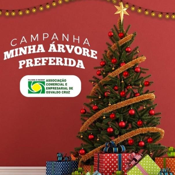 ACEOC realiza o Concurso Minha Árvore de Natal Preferida no comércio de OC