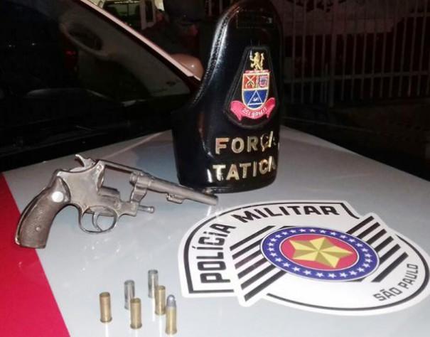 Policiais da Força Tática ouvem disparo de arma de fogo e prendem indivíduo em flagrante