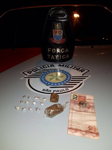 Polícia Militar de Osvaldo Cruz, através de denúncia, prende traficante na Vila Cavaru