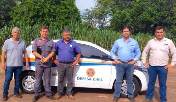 Defesa Civil realiza vistoria na Ponte sobre o Córrego Barreira em Salmourão