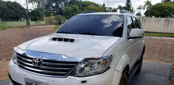 Toyota SW4 roubada em Osvaldo Cruz é recuperada em Umuarama (PR)