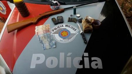 Polícia Militar realiza flagrante de tráfico na zona rural de Osvaldo Cruz