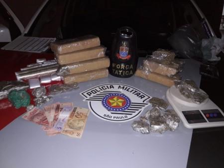 Força Tática da PM prende traficante e apreende 4,5 kg de maconha em Lucélia