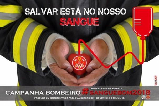 Corpo de Bombeiros de OC inicia a Campanha 'Bombeiro Sangue Bom'