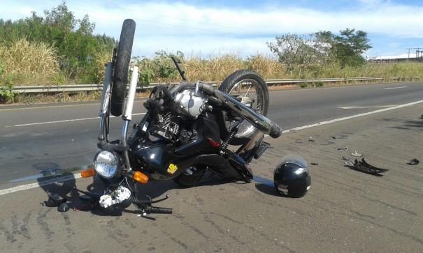 Mototaxista de OC fica gravemente ferido na SP-294