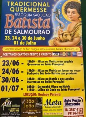 Tradicional Quermesse acontece neste final de semana em Salmourão