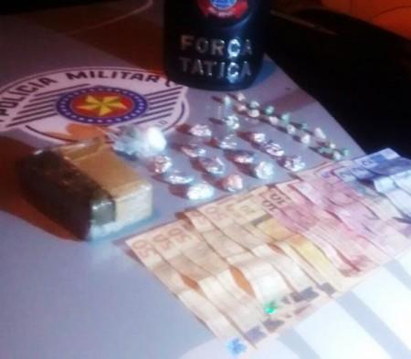 Força Tática prende luceliense com tijolo de maconha e drogas prontas para a venda
