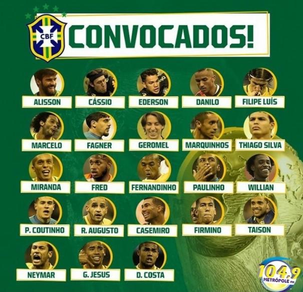 Lista fechada: Tite anuncia os 23 convocados para a Copa do Mundo