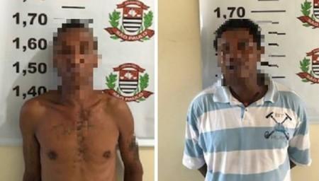 Dois homens são presos acusados de roubar casal de idosos em Adamantina