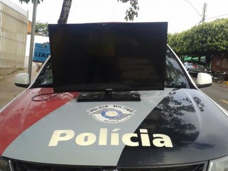 Polícia recupera TV furtada na creche Yeko Sasaki