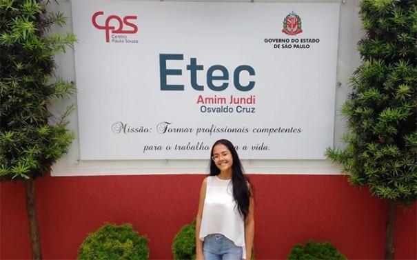 Aluna da Etec Amim Jundi é destaque em Concurso de Frases de Trânsito