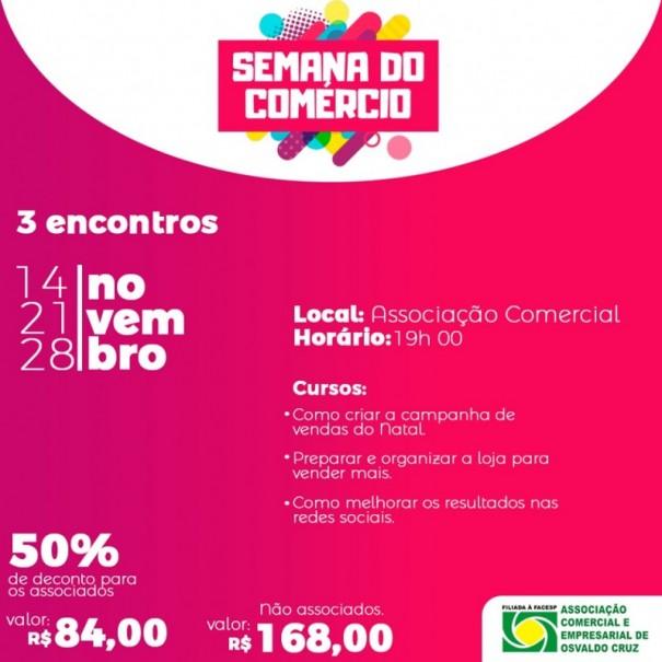 ACEOC e Sebrae promovem a Semana do Comércio em novembro