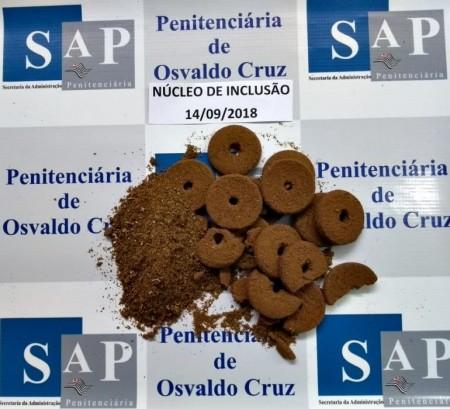 Maconha é encontrada em rosquinhas na Penitenciária de Osvaldo Cruz