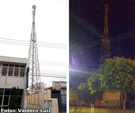Homem sobe em torre de telefonia no centro de Bastos e é salvo pela Polícia Militar