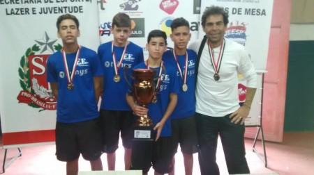 Alunos de Escola Maria Aparecida Lopes de OC são Campeões Estaduais de Tênis de Mesa