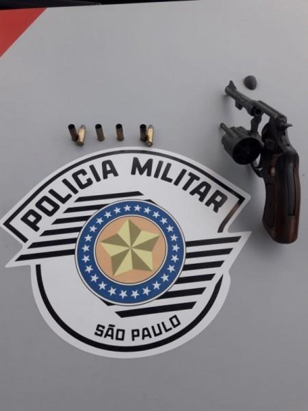 Polícia Militar de OC encontra revólver com seis munições