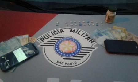 Casal é preso pela PM por tráfico de drogas em Lucélia