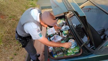 Polícia Rodoviária apreende mercadorias por crime de descaminho