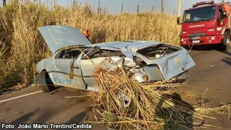 Motorista fica ferido em acidente na Vicinal Tupã - Bastos na manhã desta quinta-feira