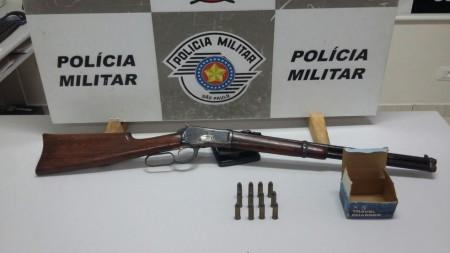 Operação Policial conjunta apreende espingarda e munições em Teodoro Sampaio