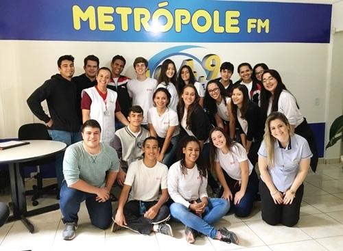 Visita dos alunos da escola SESI de Osvaldo Cruz